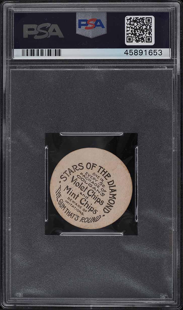 1909 Colgan's Chips Stars Of The Diamond Bugs Raymond PSA 5 EX - Image 2