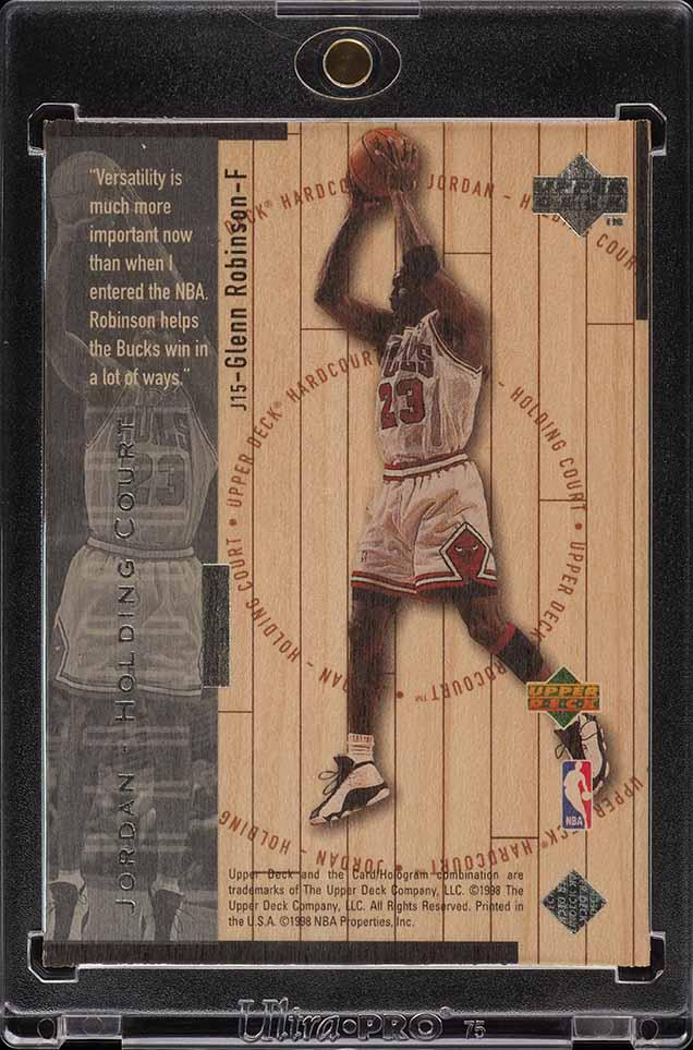 1998 UD Holding Court Silver Glenn Robinson Michael Jordan /23 #J15 (PWCC) - Image 2
