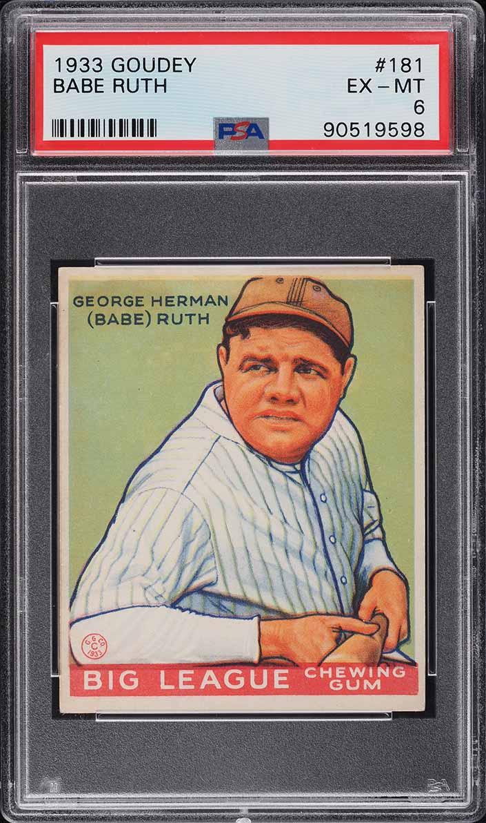 1933 Goudey Babe Ruth #181 PSA 6 EXMT (PWCC-A) - Image 1