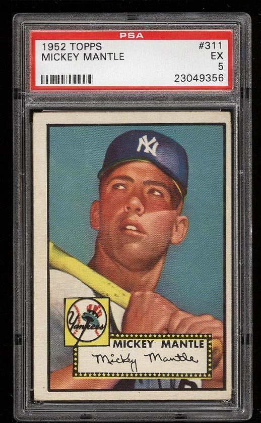 1952 Topps Mickey Mantle ROOKIE RC #311 PSA 5 EX (PWCC) - Image 1