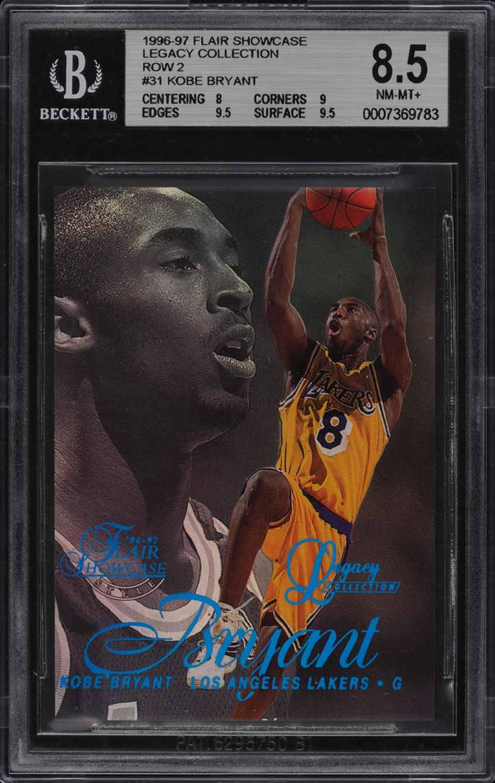1996-97 Flair Showcase Legacy Collection Row 2 Kobe Bryant ROOKIE /150 BGS 8.5 - Image 1