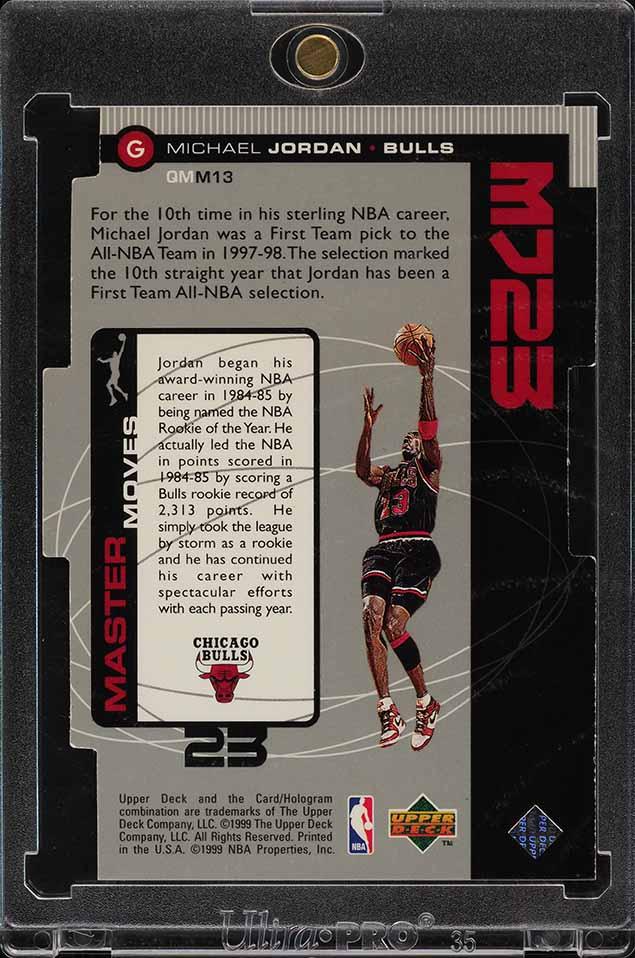 1998 Upper Deck MJ23 Quantum Silver Die-Cut Michael Jordan 1/23 #M13 (PWCC) - Image 2