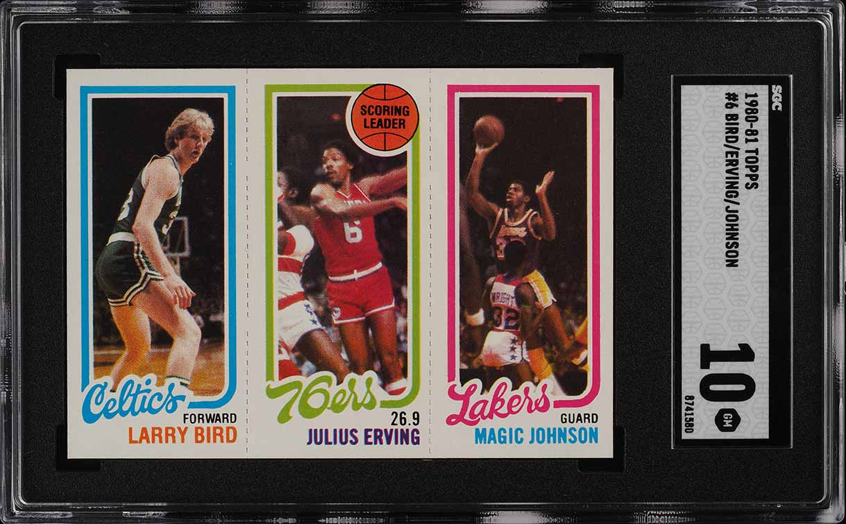 1980 Topps Basketball Larry Bird & Magic Johnson ROOKIE RC SGC 10 GEM MT (PWCC) - Image 1