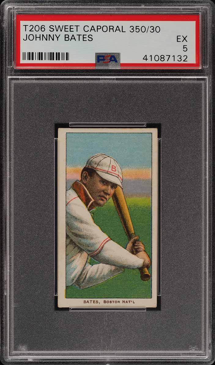 1909-11 T206 Johnny Bates PSA 5 EX (PWCC) - Image 1