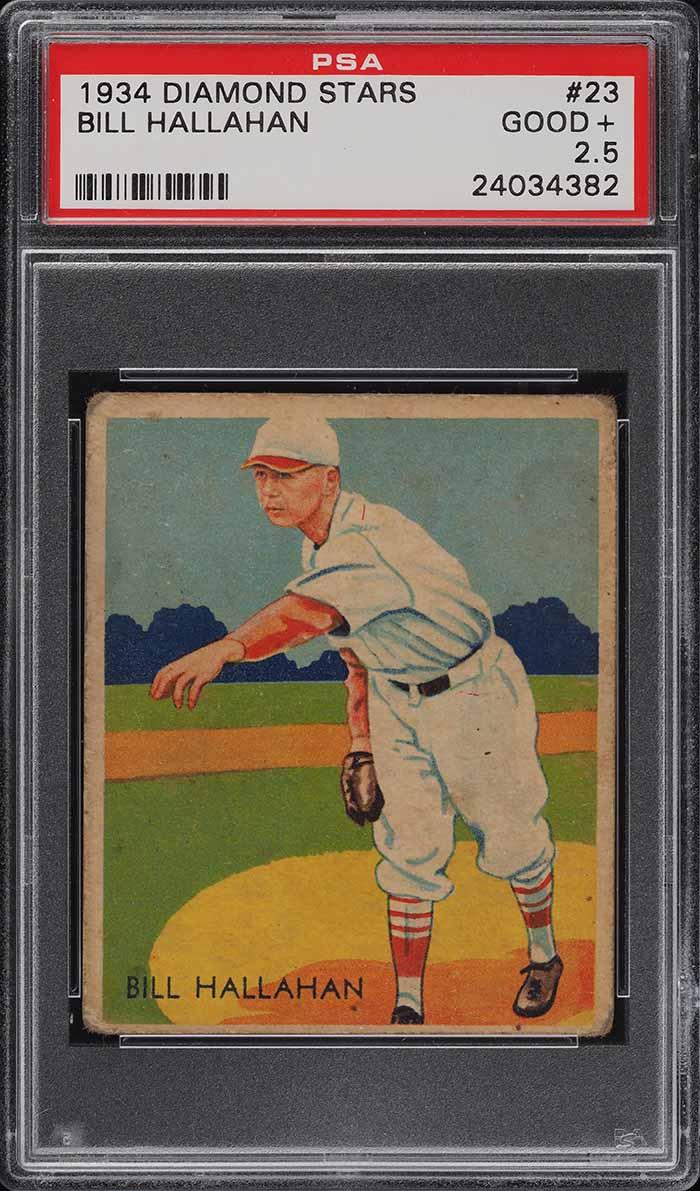 1934 Diamond Stars Bill Hallahan #23 PSA 2.5 GD+ - Image 1