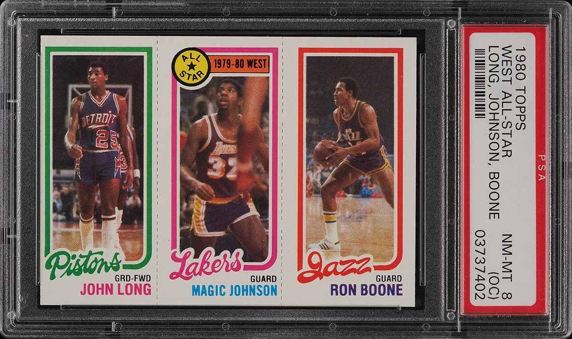 1980 Topps Basketball Magic Johnson ROOKIE RC PSA 8(oc) NM-MT (PWCC) - Image 1