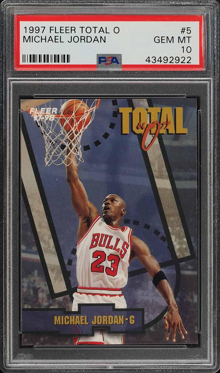 1997 Fleer Total O Michael Jordan #5 PSA 10 GEM MINT (PWCC) - Image 1