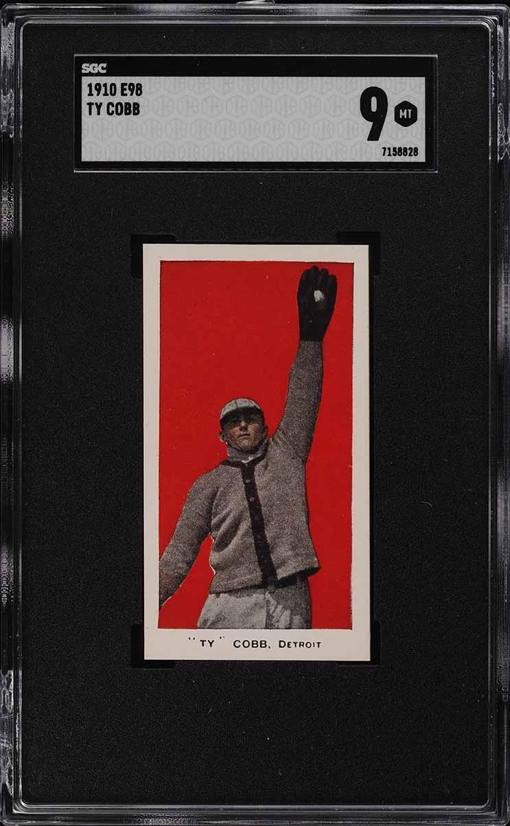 1910 E98 Set Of 30 Ty Cobb RED SGC 9 MINT - Image 1