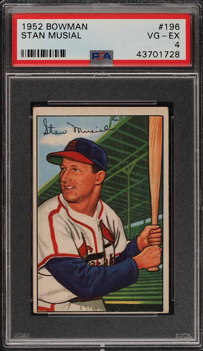1952 Bowman Stan Musial #196 PSA 4 VGEX (PWCC) - Image 1