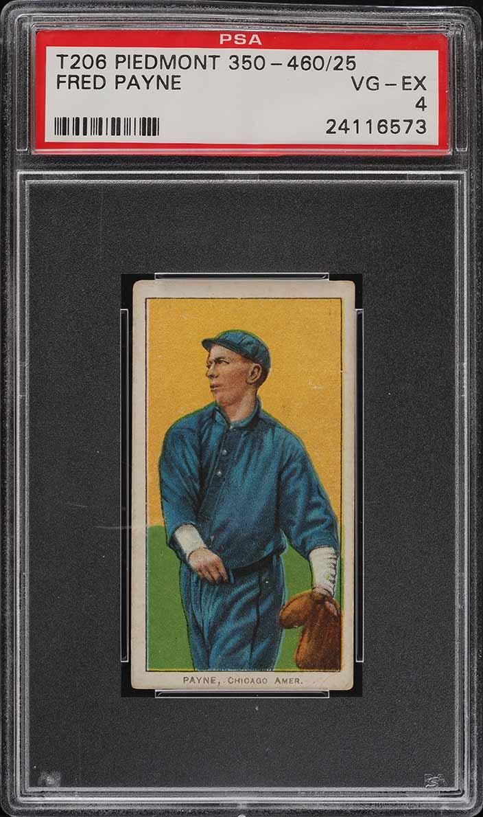 1909-11 T206 SETBREAK Fred Payne PSA 4 VGEX (PWCC) - Image 1