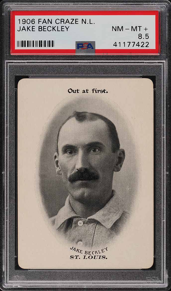 1906 Fan Craze N.L. Jake Beckley PSA 8.5 NM-MT+ - Image 1
