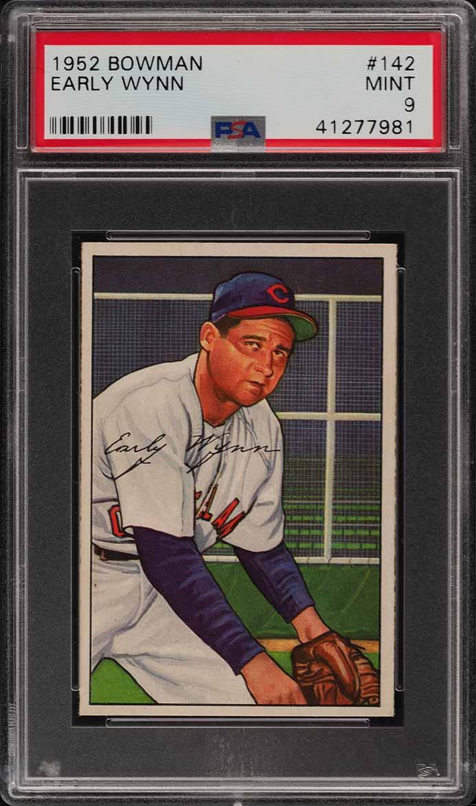 1952 Bowman Early Wynn #142 PSA 9 MINT (PWCC) - Image 1