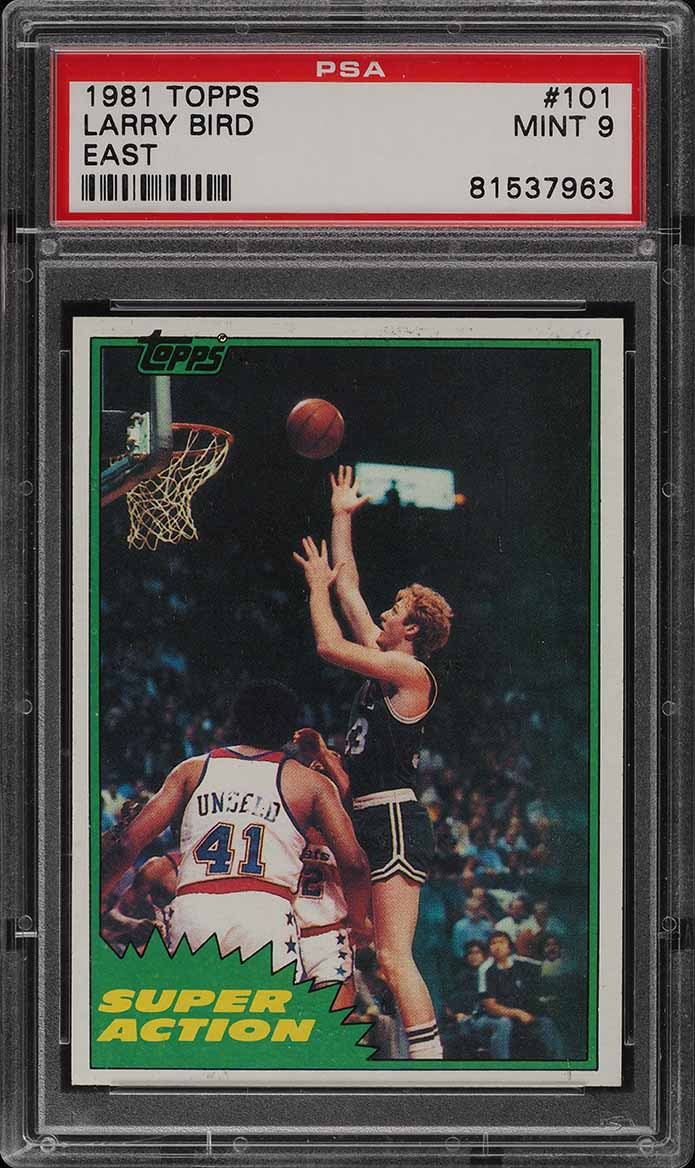 1981 Topps Basketball Larry Bird EAST #101 PSA 9 MINT (PWCC) - Image 1