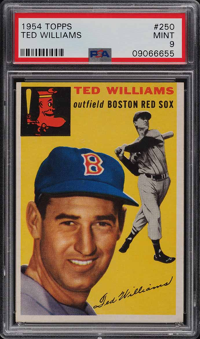 1954 Topps Ted Williams #250 PSA 9 MINT (PWCC) - Image 1