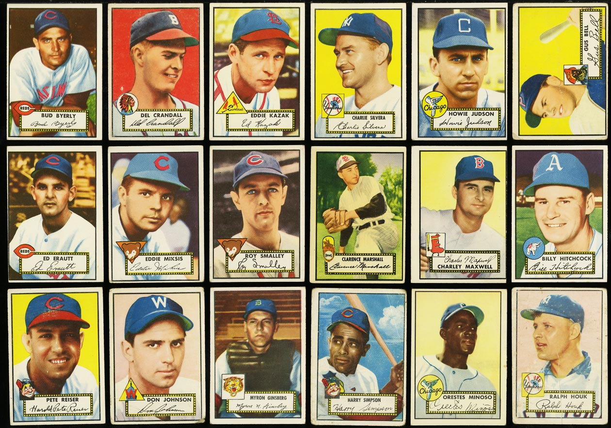 1952 Topps Lo-Mid Grd COMPLETE SET Mays Mathews Berra Robinson Mantle PSA (PWCC) - Image 10