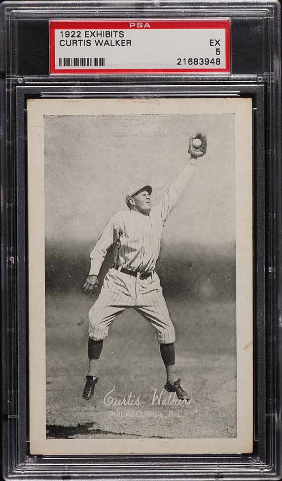 1922 Exhibits Curtis Walker PSA 5 EX - Image 1