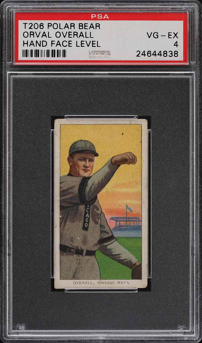 1909-11 T206 SETBREAK Orval Overall HAND FACE LEVEL POLAR BEAR PSA 4 VGEX (PWCC) - Image 1