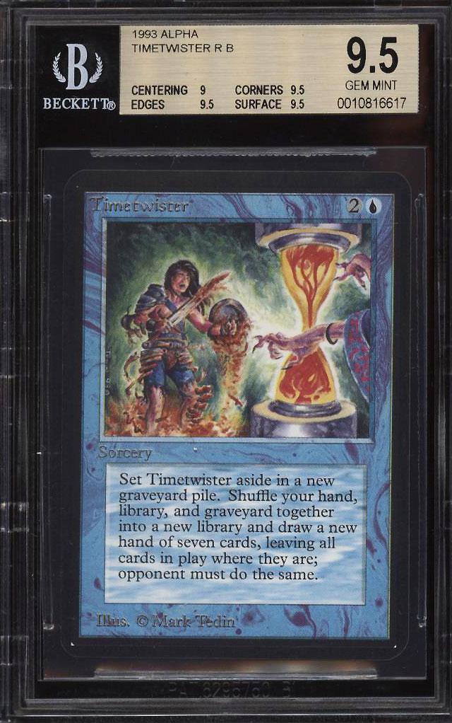 1993 Magic The Gathering MTG Alpha Timetwister R B BGS 9.5 GEM MINT