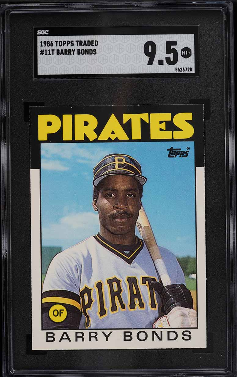 1986 Topps Traded Barry Bonds ROOKIE RC #11T SGC 9.5 MINT+ - Image 1