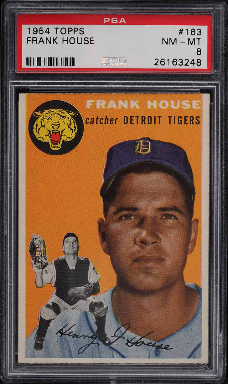 1954 Topps Frank House #163 PSA 8 NM-MT - Image 1