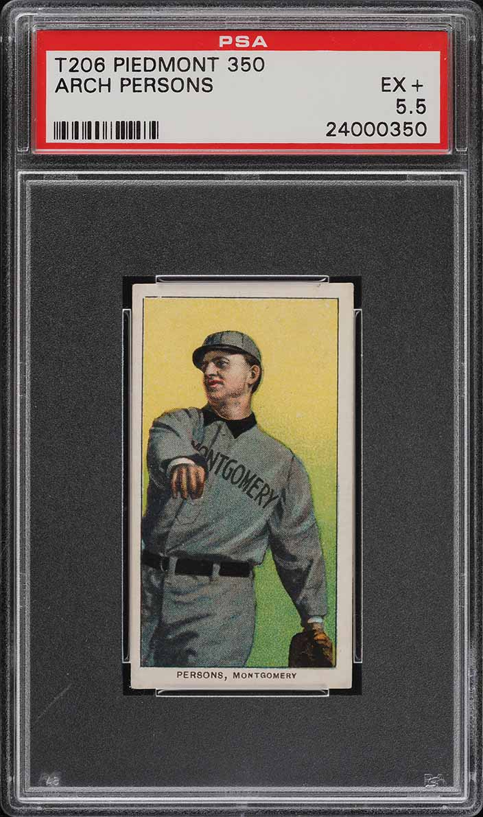 1909-11 T206 SETBREAK Arch Persons SOUTHERN LEAGUER PSA 5.5 EX+ (PWCC) - Image 1
