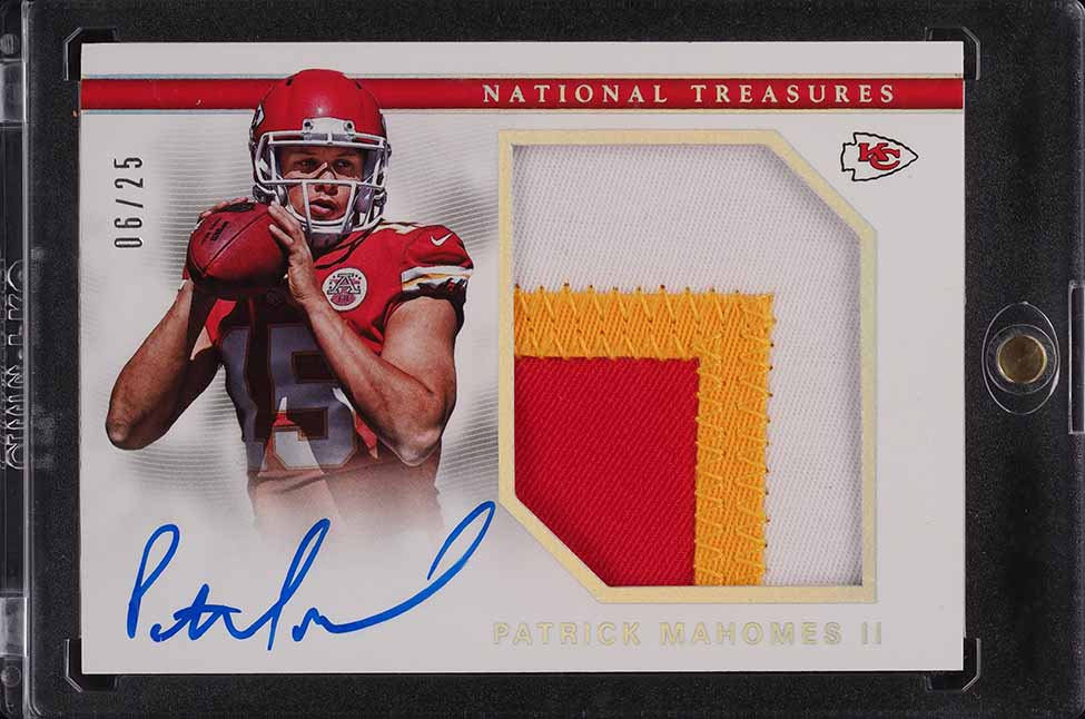 2017 National Treasures Holo Silver Patrick Mahomes RPA ROOKIE RC PATCH AUTO /25 - Image 1