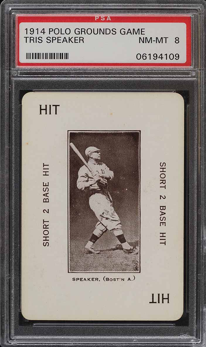 1914 Polo Grounds Game Tris Speaker PSA 8 NM-MT (PWCC) - Image 1
