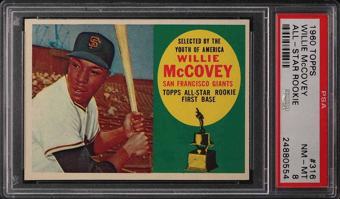 1960 Topps Willie McCovey ROOKIE RC #316 PSA 8 NM-MT - Image 1
