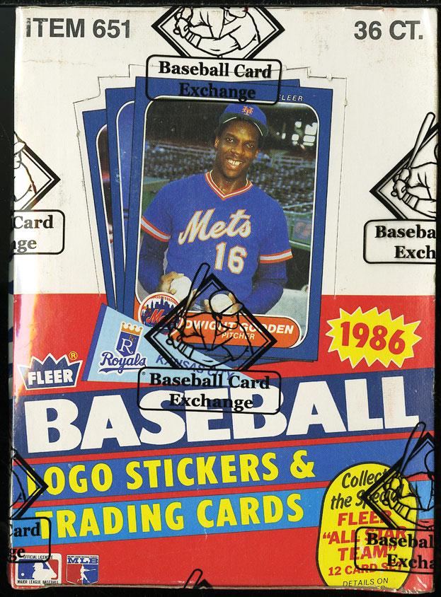 1986 Fleer Wax Box, 36ct Wax Packs, Nolan Ryan Jose Canseco ROOKIE RC? BBCE AUTH - Image 1