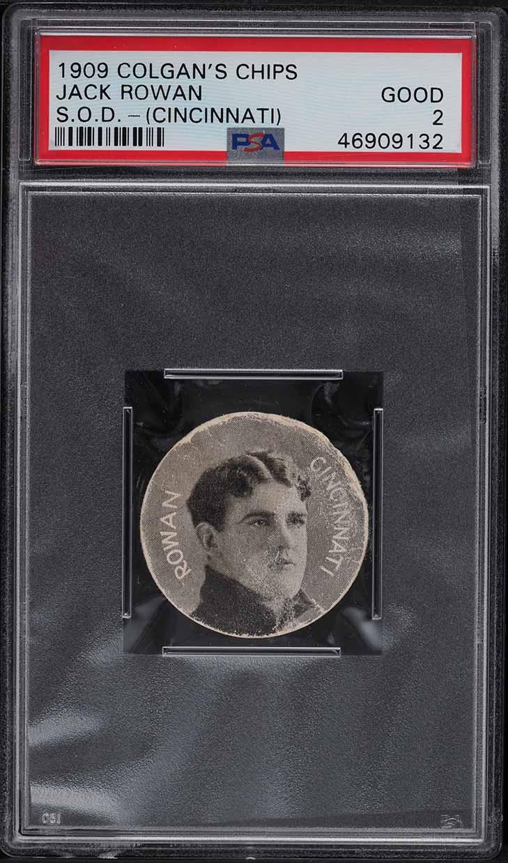 1909 Colgan's Chips Stars Of The Diamond Jack Rowan CINCINNATI PSA 2 GD - Image 1
