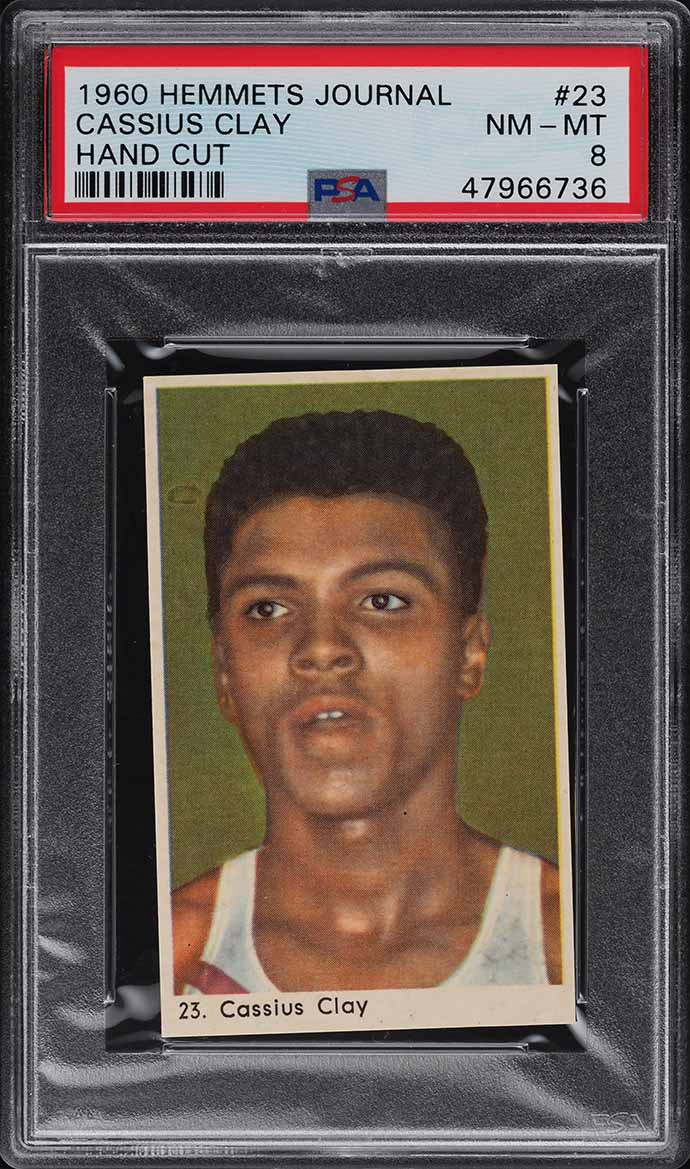 1960 Hemmets Journal Cassius Clay Muhammad Ali ROOKIE RC #23 PSA 8 NM-MT - Image 1