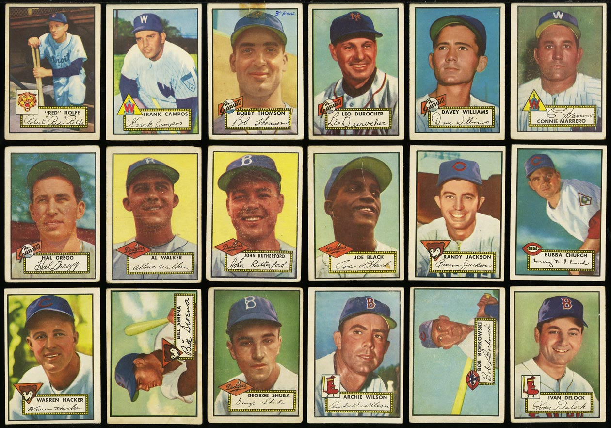 1952 Topps Lo-Mid Grd COMPLETE SET Mays Mathews Berra Robinson Mantle PSA (PWCC) - Image 12