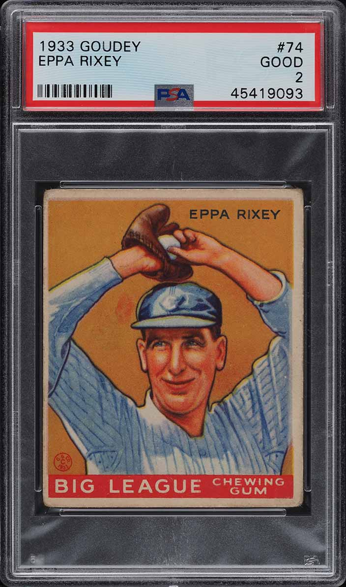 1933 Goudey Eppa Rixey #74 PSA 2 GD (PWCC) - Image 1