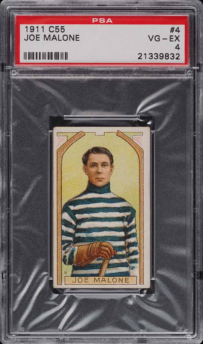 1911 C55 Hockey Joe Malone ROOKIE RC #4 PSA 4 VGEX (PWCC) - Image 1