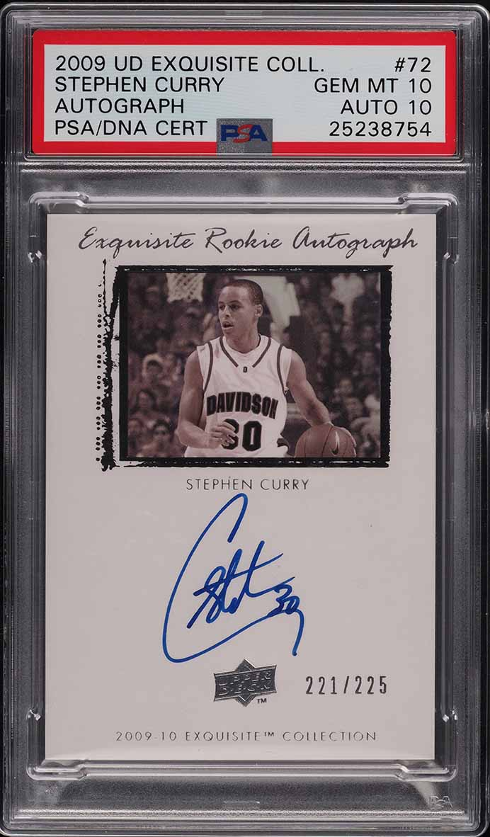 2009 Exquisite Collection Stephen Curry ROOKIE RC PSA/DNA 10 AUTO /225 PSA 10 - Image 1