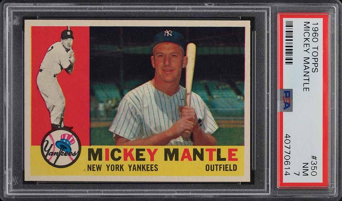 1960 Topps Mickey Mantle #350 PSA 7 NRMT (PWCC-E) - Image 1