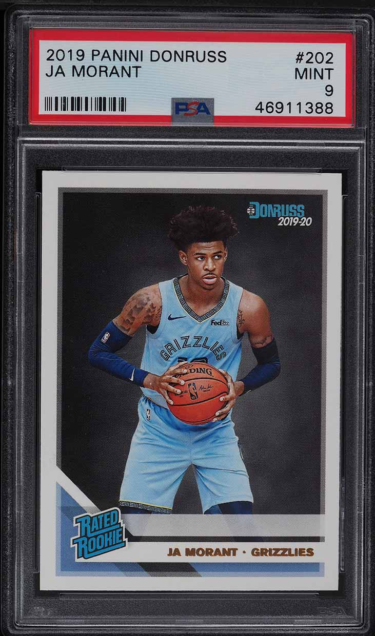 2019 Donruss Basketball Ja Morant ROOKIE RC #202 PSA 9 MINT - Image 1