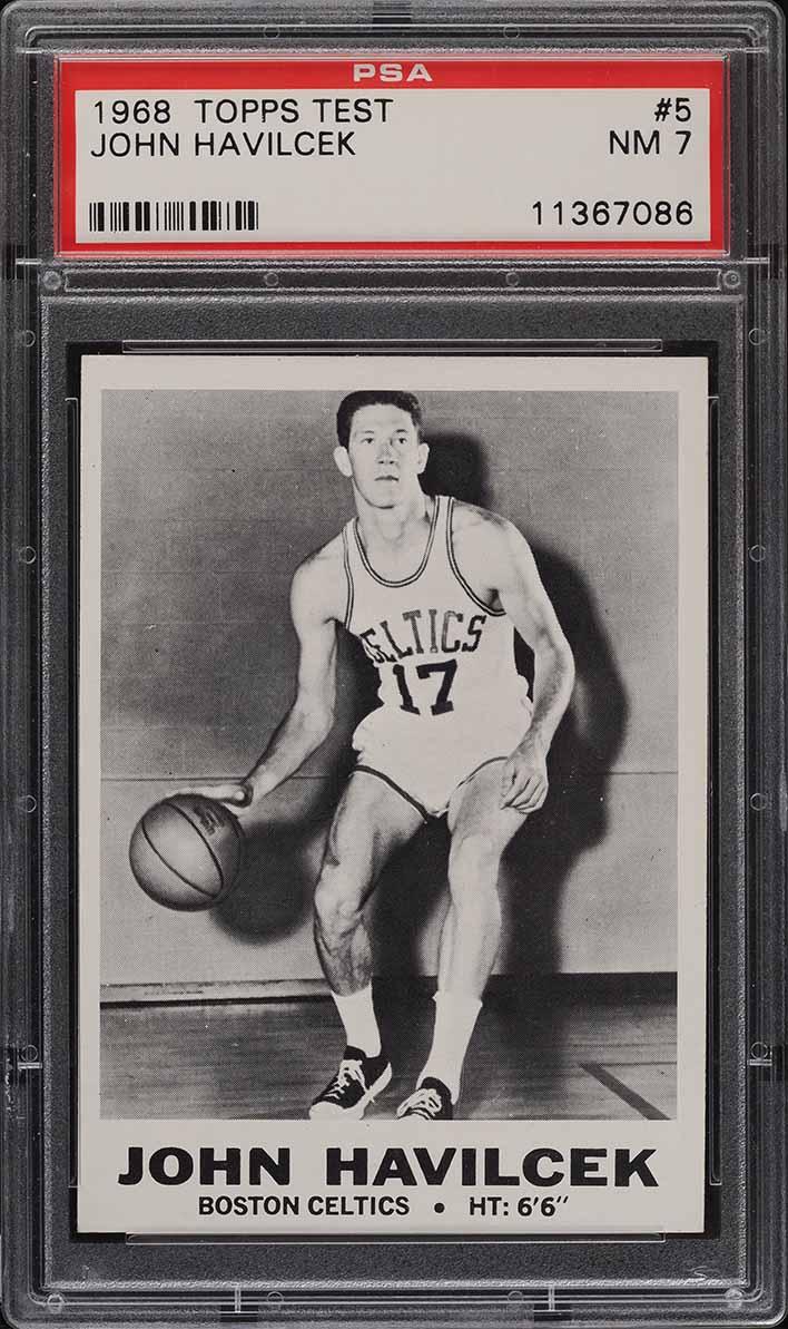 1968 Topps Test Basketball John Havlicek ROOKIE RC #5 PSA 7 NRMT - Image 1