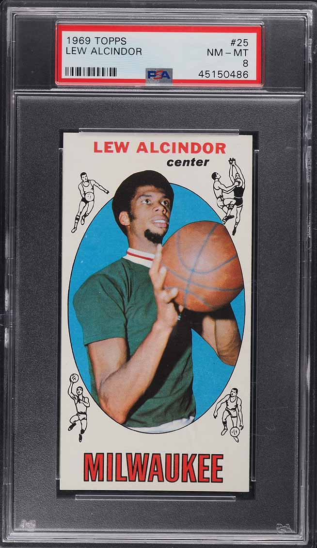 1969 Topps Basketball Lew Alcindor ROOKIE RC #25 PSA 8 NM-MT (PWCC-A) - Image 1