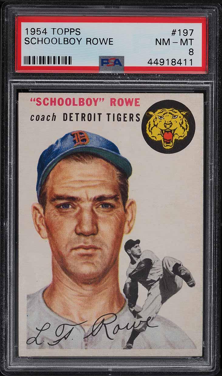 1954 Topps Schoolboy Rowe #197 PSA 8 NM-MT - Image 1