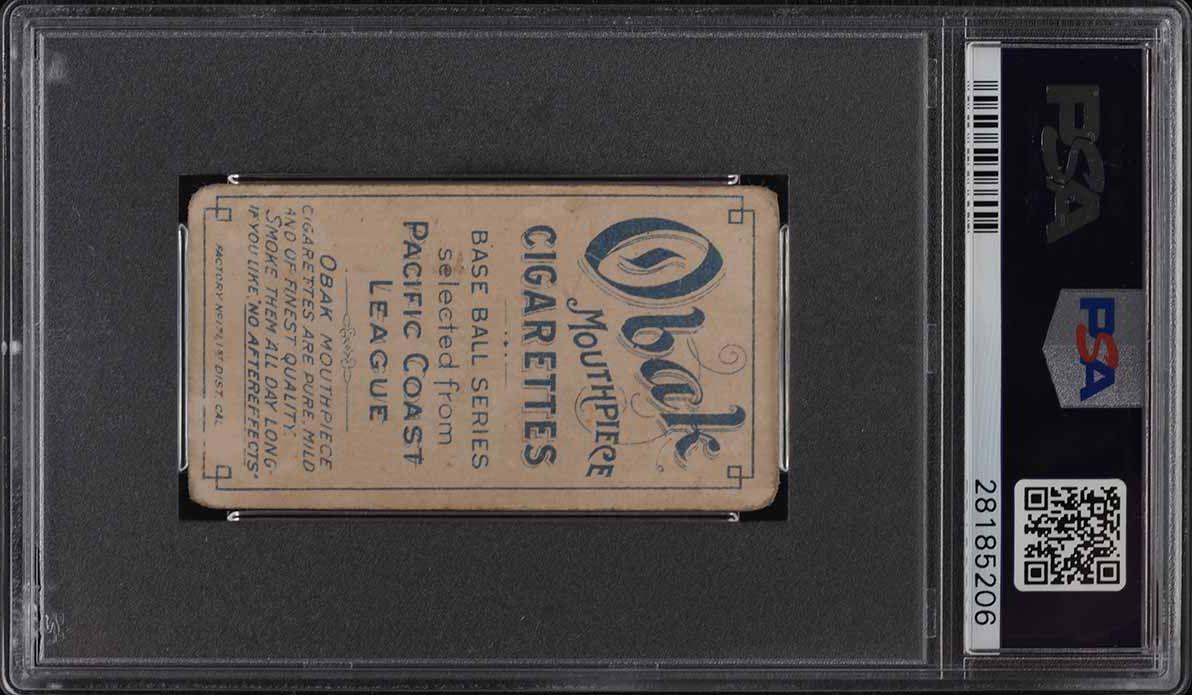 1909 T212 Obak Brackenridge PSA 2 GD - Image 2