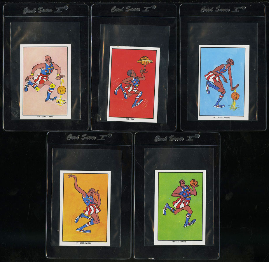 Lot(5) 1971 Harlem Globetrotters Hanna Barbera Spanish Cards - Image 1