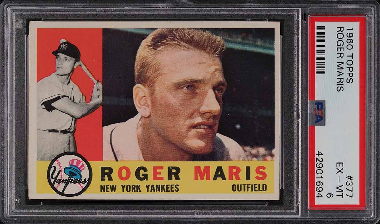 1960 Topps Roger Maris #377 PSA 6 EXMT - Image 1