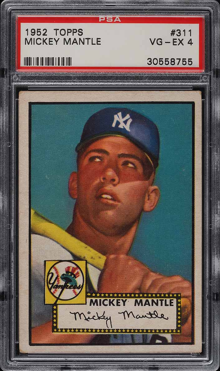 1952 Topps Mickey Mantle #311 PSA 4 VGEX (PWCC-A) - Image 1