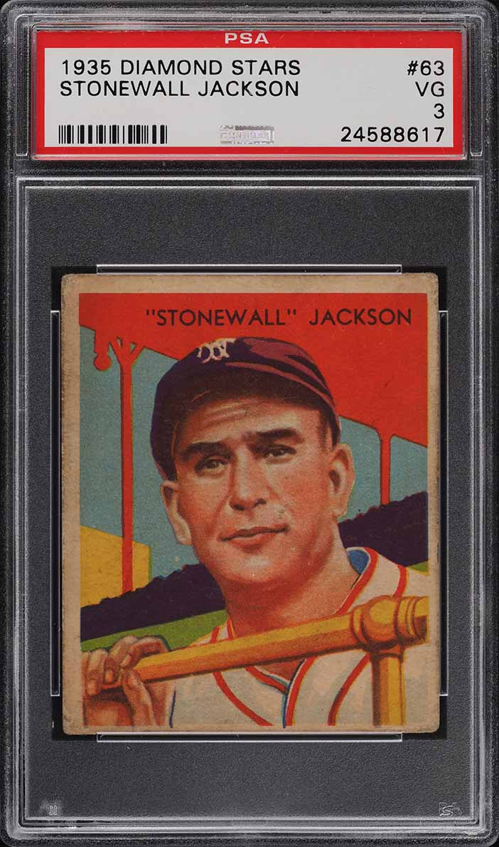 1935 Diamond Stars Stonewall Jackson #63 PSA 3 VG - Image 1
