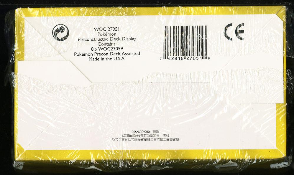1999 Pokemon Base Set Chinese Precon Display, Red Logo, 8ct Box, Pikachu (PWCC) - Image 2