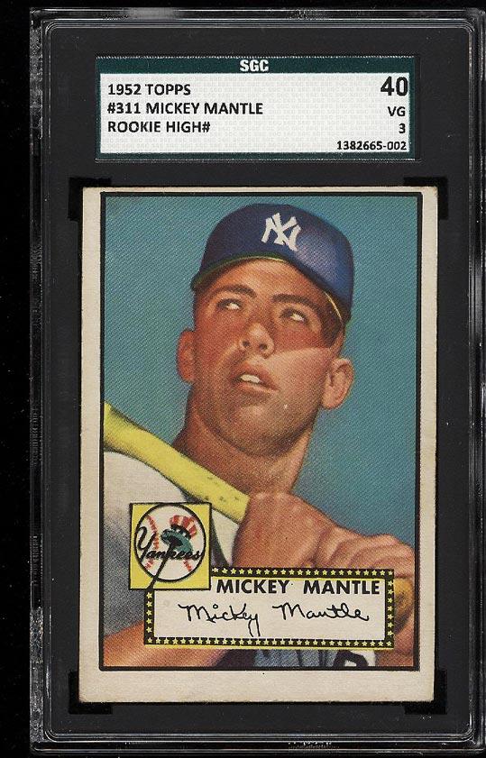 1952 Topps Mickey Mantle #311 SGC 3/40 VG (PWCC) - Image 1