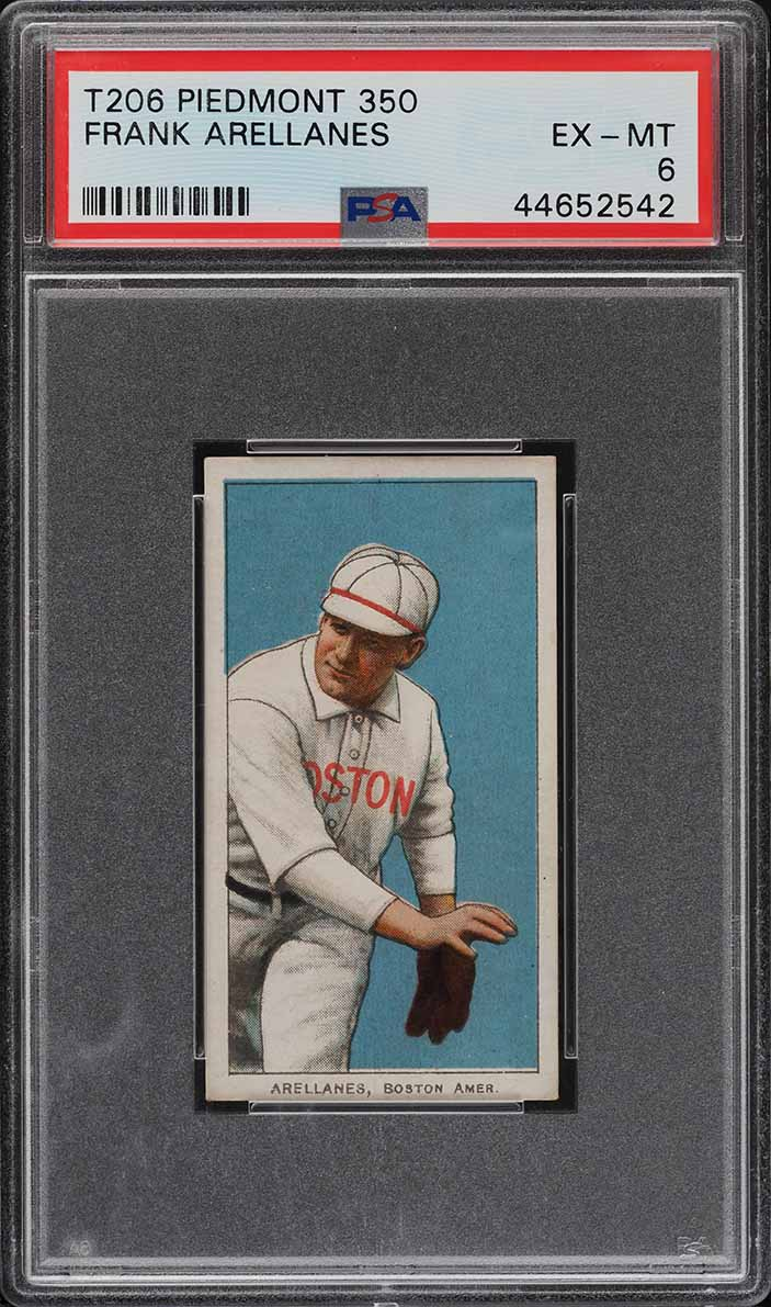 1909-11 T206 Frank Arellanes PSA 6 EXMT (PWCC-A) - Image 1