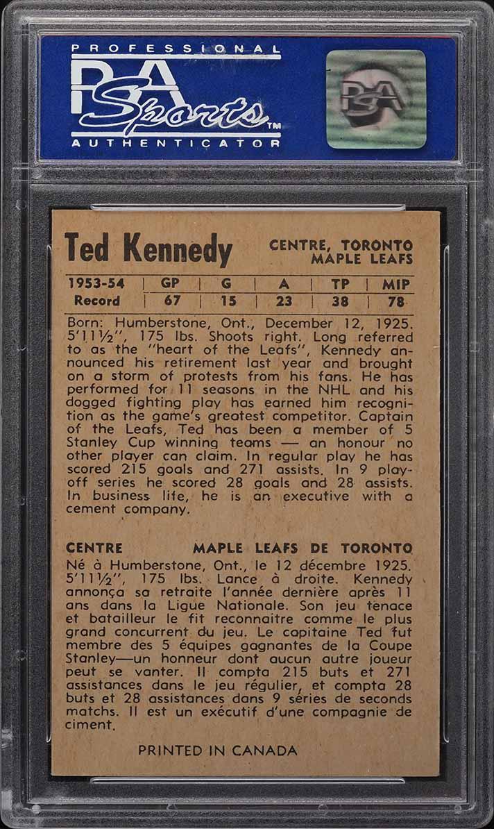 1954 Parkhurst Ted Kennedy #29 PSA 8 NM-MT - Image 2