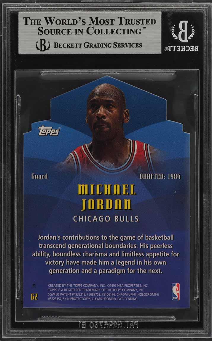 1997 Topps Generations Refractor Die-Cut Michael Jordan #G2 BGS 9 MINT (PWCC) - Image 2